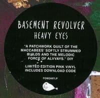 BASEMENT REVOLVER Heavy Eyes Vinyl Record LP Fear Of Missing Out 2018 Pink Vinyl